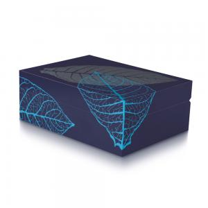 Davidoff Zino Blue Graphic Leaf Humidor - 50 Cigar Capacity