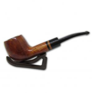 Adsorba Light Brown Smooth Semi Bent Pot Pipe