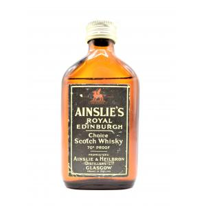 Ainslies Royal Edinburgh 70s Vintage Whisky Miniature - 5cl 70 Proof