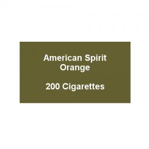 American Spirit Orange -  10 Packs of 20 Cigarettes (200)
