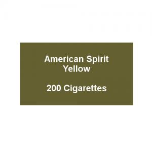 American Spirit Yellow - 10 Packs of 20 cigarettes (200)