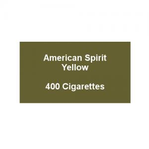American Spirit Yellow - 20 Packs of 20 cigarettes (400)