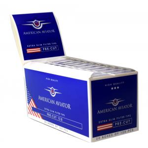 American Aviator Extra Slim Filter Tips 20 Packs