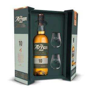 Arran 10 Year Old 70cl Bottle & Glass Pack