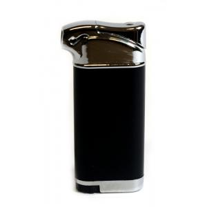 Atomic Pipe Lighter Soft flame - Black/ Silver