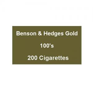 Benson & Hedges Gold 100s Superking - 10 Packs of 20 Cigarettes (200)