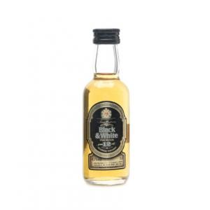 Black & White 12 Year Old Premium Scotch Whisky Miniature - 43% 5cl
