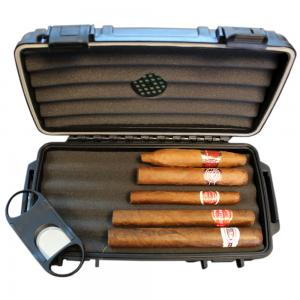 Budget Cuban Cigar Selection + C.Gars Crushproof Travel Humidor Sampler