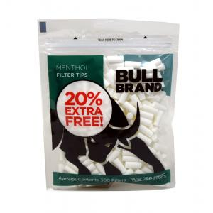Bull Brand Slimline Menthol Filter Tips 1 Bag