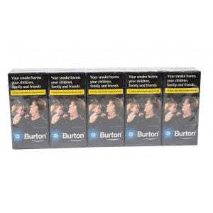 Burton Blue Crushball Cigarillo - 10 Packs of 10 (100 Cigars)