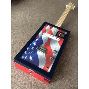 Handcrafted Camacho Liberty Series Throwback 2012 Cigar Box Guitar