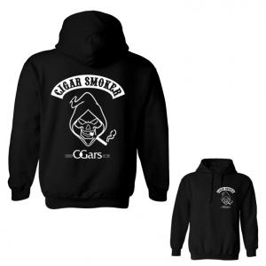 C.Gars Ltd Cigar Smoker Black Hoodie