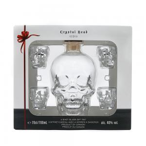 Crystal Skull Head Gift Pack with 4 Shot Glasses Gift Pack