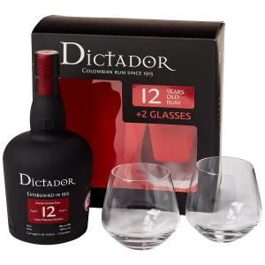 Dictador 12 Year Old Gift Pack - 70cl Bottle with Glasses