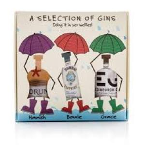 Doin It In Your Wellies Gin Gift Set - 3 x 5cl