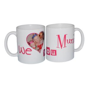 """We Love You Mum"" Personalised Image Mug"
