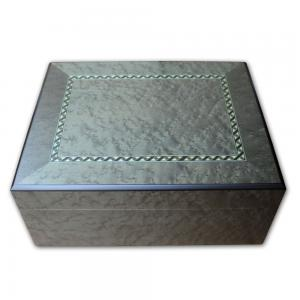 Gentili Verde with Inlay Cigar Humidor - 50 Cigar Capacity