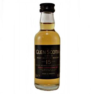 Glen Scotia 15 Year Old Single Malt Scotch Whisky Miniature - 5cl 46%