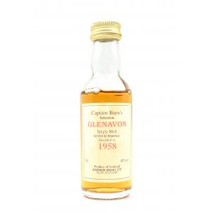 Captain Burns Glenavon 1958 Whisky Miniature - 40% 5cl