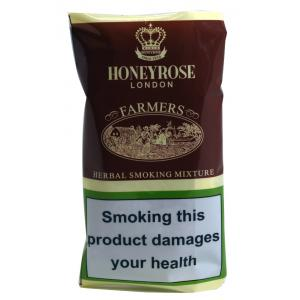 Honeyrose Farmers Mixture Herbal Smoking Hand Rolling Tobacco (Tobacco free) 50g Pouch