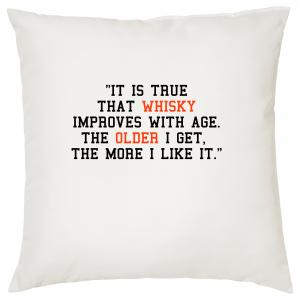 It Is True That Whisky Improves With Age - Cigar Themed Cushion