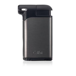 Colibri Pacific Air Single Soft Flame Lighter - Gunmetal & Black