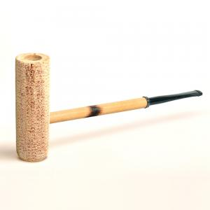 Corn Cob MacArthur Classic Natural Straight Fishtail Pipe