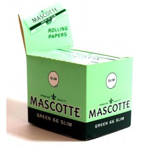 Mascotte Green 66 Slim Rolling Papers 24 packs
