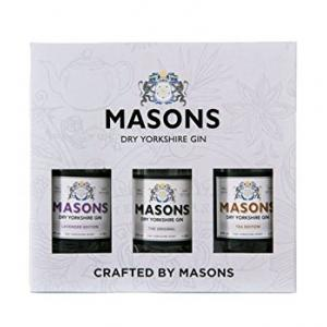 Masons Dry Yorkshire Gin 3x20cl Triple Pack