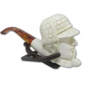 Cavalier Pipe Medium Smoking Man With Hat Meerschaum Pipe