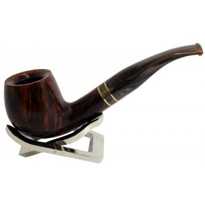 Molina Horn Ring Brown Bent Fishtail Pipe (MH011)