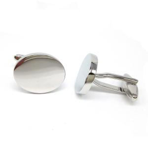 Oval Deluxe Personalised Cufflinks