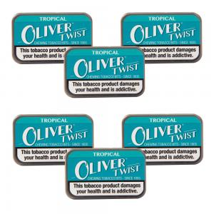 Oliver Twist Tropical - Smokeless Tobacco Bits 7g Pack x 6 (6)