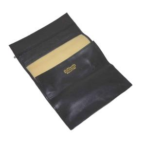 Dr Plumb Black Leather Tobacco Roll Up Sifter Pouch