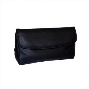 Black Leatherette Pipe Combination Rubber Lined Pouch