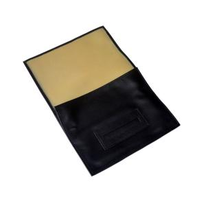 Black Leatherette Hand Rolling Tobacco Roll Up Pouch