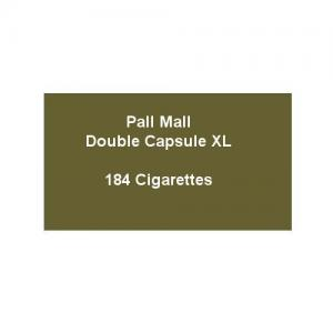 Pall Mall Double Capsule XL - 8 Packs of 23 Cigarettes (184)