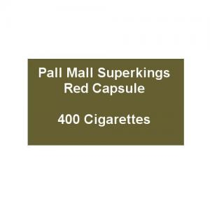 Pall Mall Superkings Red Capsule - 20 Packs of 20 Cigarettes (400)