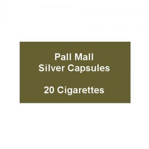 Pall Mall Kingsize Silver Capsules - 1 Pack of 20 Cigarettes (20)