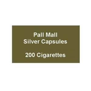Pall Mall Kingsize Silver Capsules - 10 Packs of 20 Cigarettes (200)