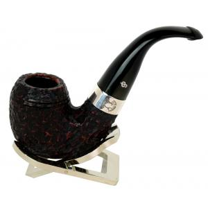 Peterson Sherlock Holmes Baskerville Rustic Silver Mounted P/Lip Pipe (PE153)