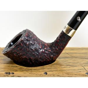 Peterson Churchwarden D6 Rustic Nickel Mounted Fishtail Pipe (PEC066)
