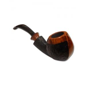DB Briar Pipe – Bent – Rustic Finish