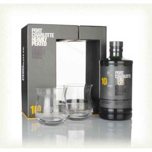 Bruichladdich Port Charlotte 10 Year Old Bottle & Glass Pack