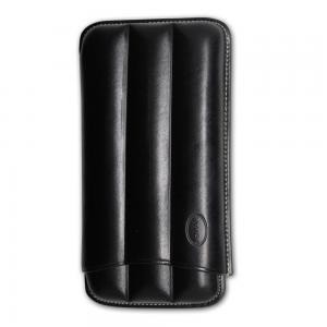 Jemar Leather Cigar Case - 3 Finger - 56 RG - Black