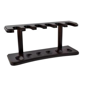 Wood Pipe Rack - Holds 6 Pipe - Walnut