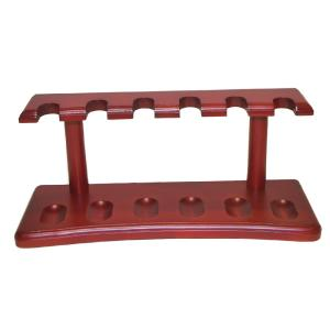 Cherry Wood Pipe Rack - Holds 6 Pipes
