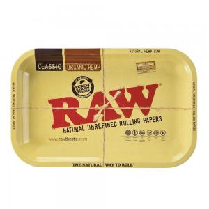 RAW Small Metal Rolling Tray - RAW Classic