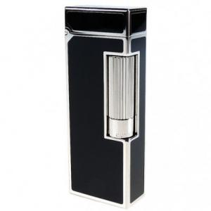 Dunhill Rollagas Black Lacquer Palladium Plated Lighter