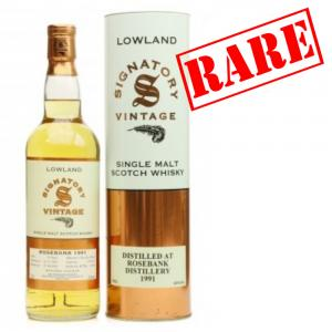 Rosebank 14 Year Old 1991 - 2006 Signatory Vintage Malt Scotch Whisky - 70cl 43%
